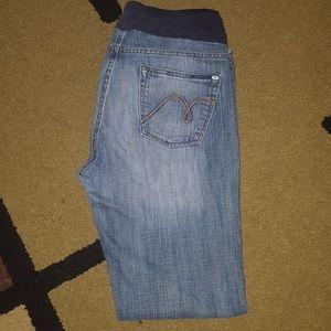 Mavi maternity jeans size L bootcut 32.5 inseam